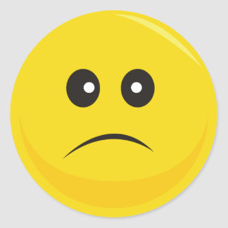 Smiley Face Sticker (Sad)