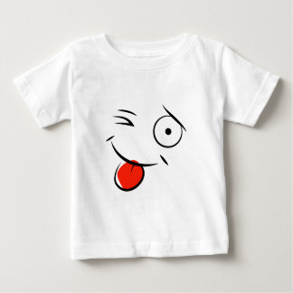 Smiley face sticking tongue out. Raspberry face Baby T-Shirt