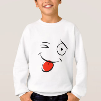 Smiley face sticking tongue out. Raspberry face Sweatshirt