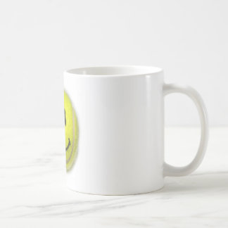 Smiley Face Tennis Ball Coffee Mug