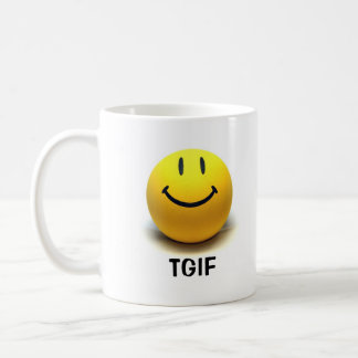 Smiley Face TGIF Mug