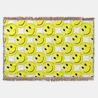 Smiley Face Throw Blanket