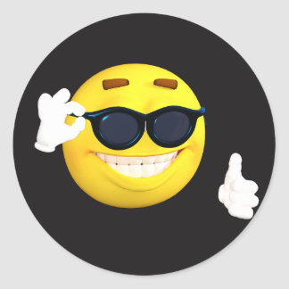 "Smiley Face ""Thumbs Up"" Emoji Stickers"