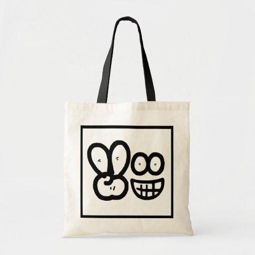 Smiley Face V Finger (Light) Bag