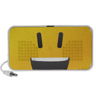 Smiley face with big smile travelling speaker