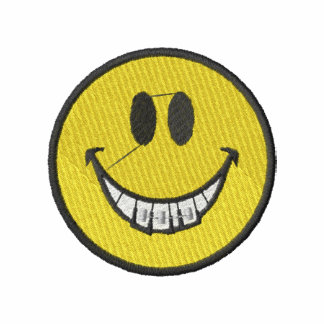 Smiley Face with Braces Embroidered Polo Shirt