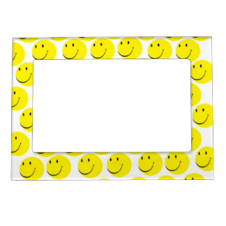 smiley faces magnetic picture frame
