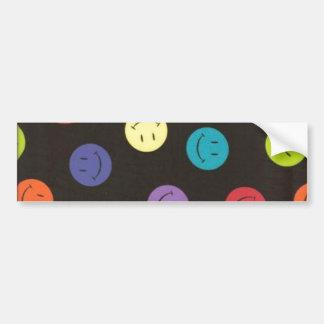 Smiley Faces - Multi-colored Bumper Sticker