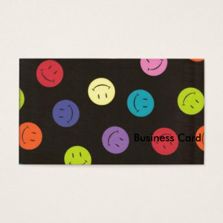 Smiley Faces - Multi-colored Business Card