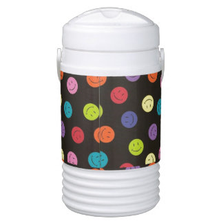 Smiley Faces - Multi-colored Cooler