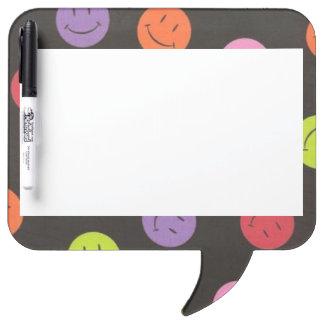 Smiley Faces - Multi-colored Dry Erase Board