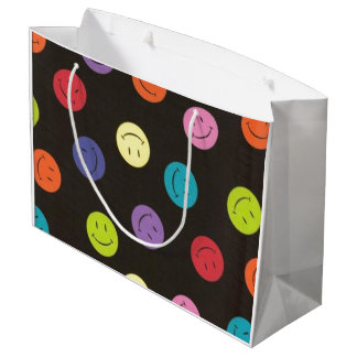 Smiley Faces - Multi-colored Large Gift Bag