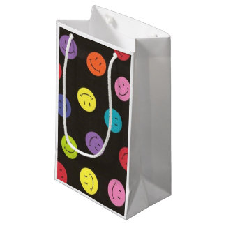 Smiley Faces - Multi-colored Small Gift Bag