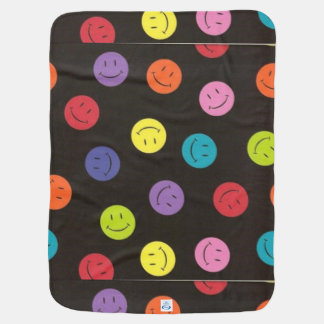 Smiley Faces - Multi-colored Swaddle Blankets