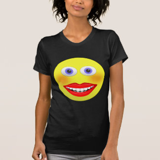 Smiley Female With Big Mouth Women's T-Shirt