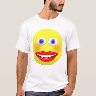 Smiley Female With Big Smiling Mouth Men's T-shirt