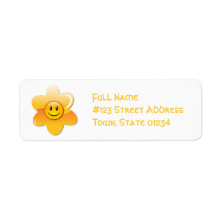 Smiley Flower Mailing Labels