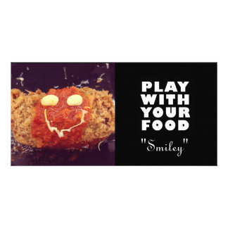 Smiley Food Face Psotcard Photo Card