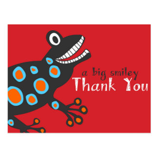 Smiley Frog Thank You Card