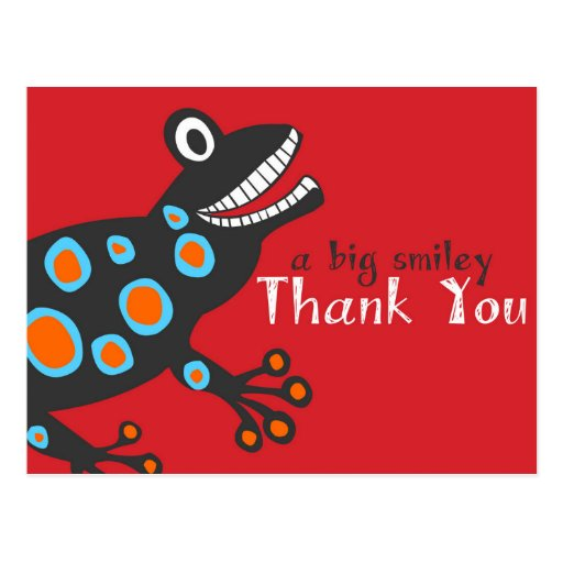 Smiley Frog Thank You Card Post Card