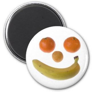 Smiley fruit refrigerator magnet