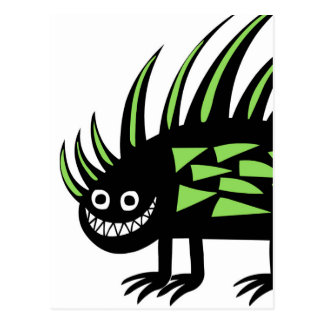 Smiley Funky colourful porcupine f Postcard