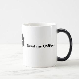 smiley, Got my Coffee!, Need my Coffee! Morphing Mug