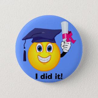 Smiley Graduate 6 Cm Round Badge