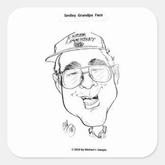 Smiley Grandpa Sticker