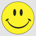 Smiley Happiness Face Round Sticker