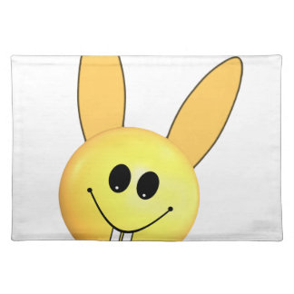 Smiley happy bunny for Easter Placemat