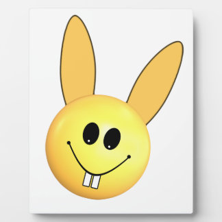 Smiley happy bunny for Easter Plaque