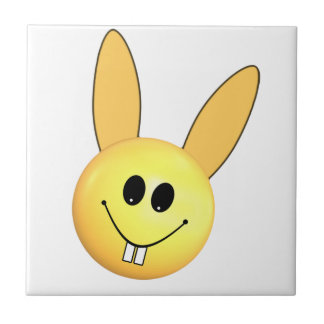 Smiley happy bunny for Easter Tile