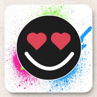 Smiley Heart Coasters