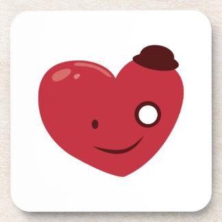 Smiley Heart Drink Coaster