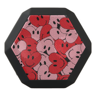 Smiley Hearts Black Boombot Rex Bluetooth Speaker