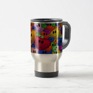 Smiley Hearts Travel Mug