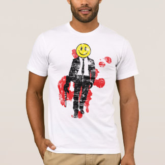Smiley Hitman (Distressed) T-Shirt
