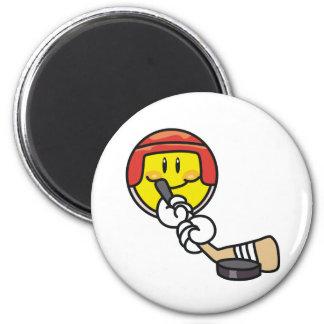 Smiley Hockey Magnet