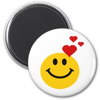 Smiley in Love Magnet