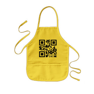 Smiley Inverted ☻ Happy Face -- QR Code Kids Apron