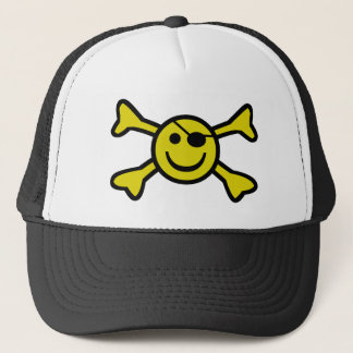 Smiley Jolly Roger Trucker Hat