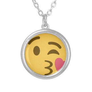 Smiley KIS Emoji Silver Plated Necklace