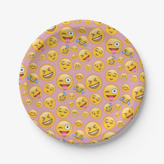 Smiley Laugh Out Loud (lol) Emoji Pattern Paper Plate