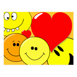Smiley Love for Customization on Postcard