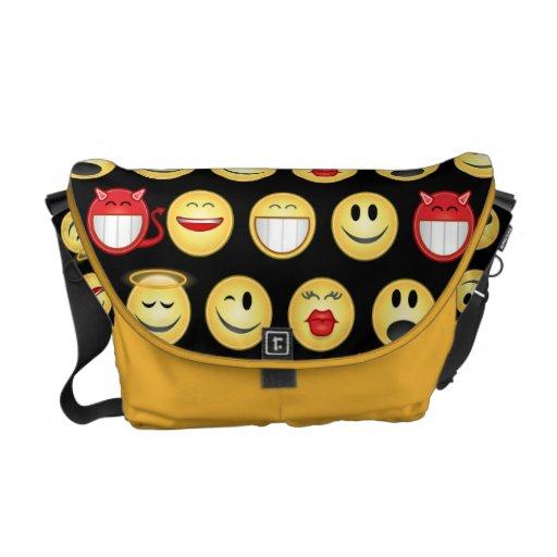 smiley messenger bag