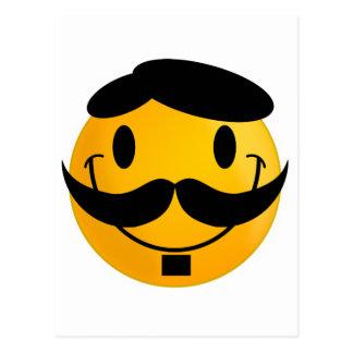 Smiley Moustache Postcard