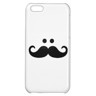 Smiley Mustache face iPhone 5C Cases