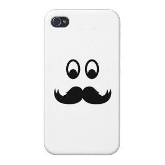 Smiley Mustache Covers For iPhone 4
