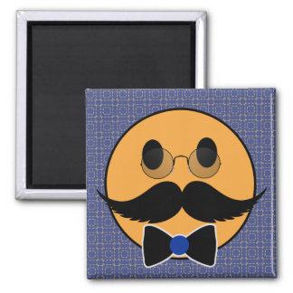 Smiley Mustache Moustache with Bowtie Fridge Magnet